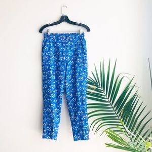 J. Crew Pull-On High Rise Floral Ankle Pants E1181
